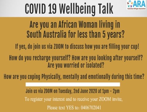 COVID 19 Wellbeing Talk for African Women